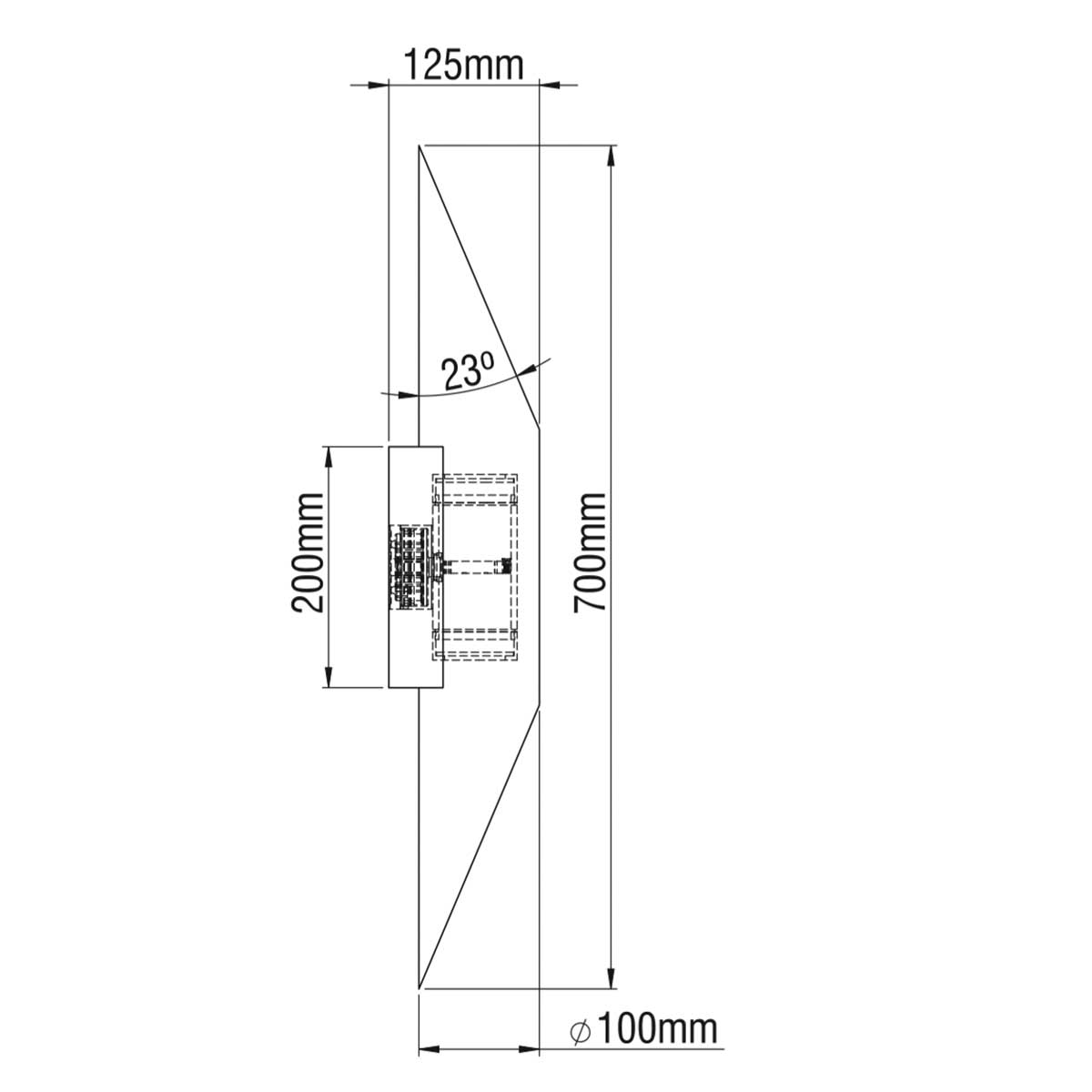 Dimensions / EKALI IP65 TWO WAY