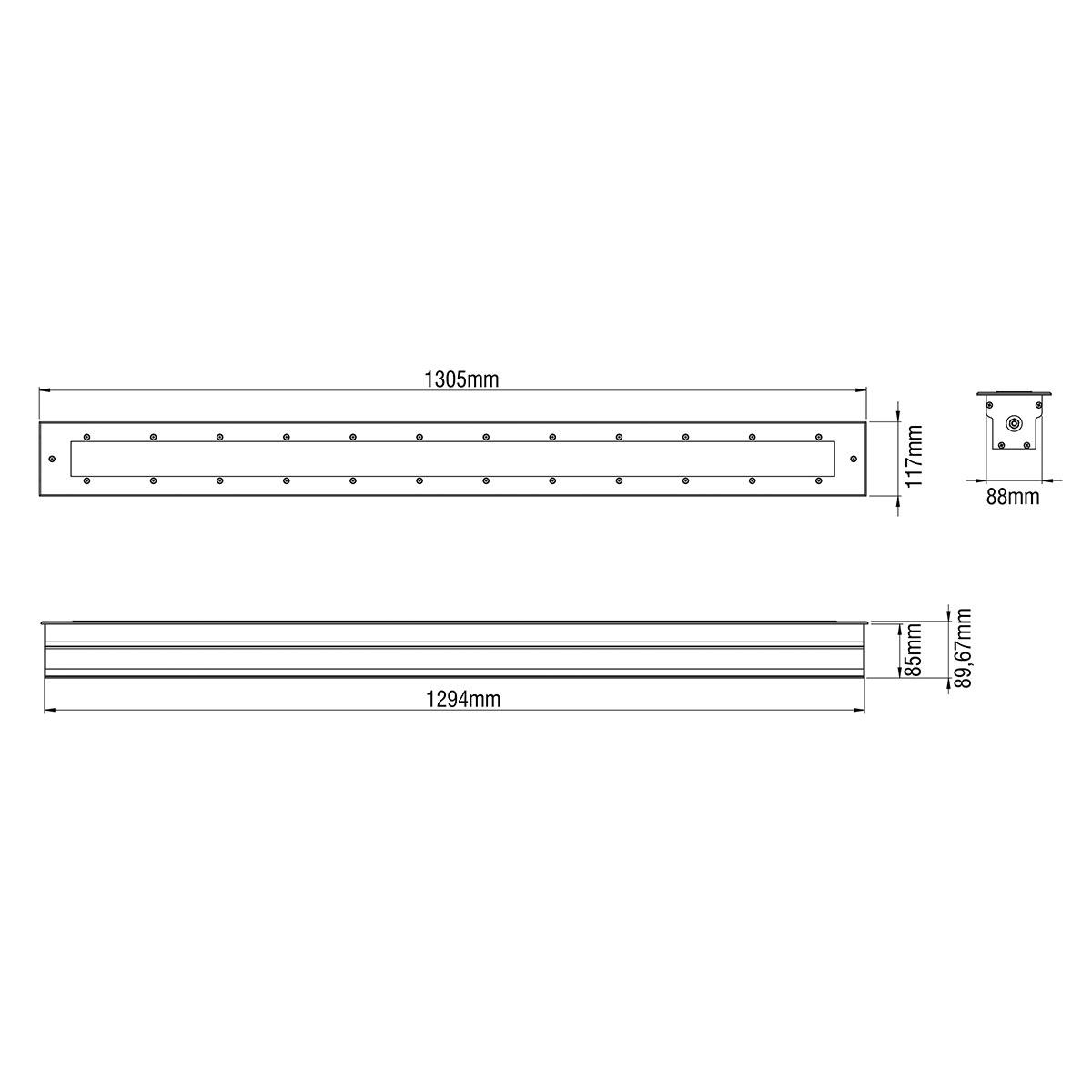 Dimensions / SLIM 3 - LED GROUND